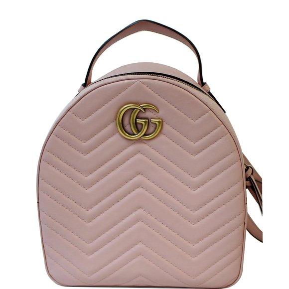 GUCCI  GG Marmont Rucksack Chevron Backpack Bag